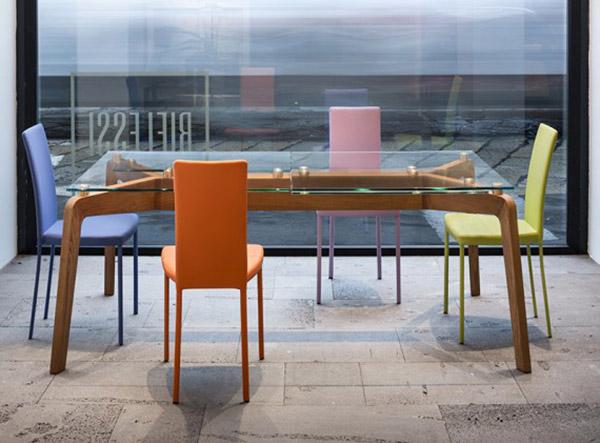 Sedie Per Tavolo Di Cristallo.Riflessi Glide Mobilificio 2000 Rieti